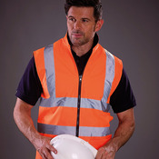 Hi vis reversible fleece bodywarmer (HV008F)